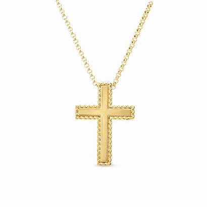 Cross Necklace Gold Coin Roberto Background Necklaces