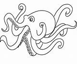 Coloring Octopus Pages Printable Cute Cartoon Print Colouring Adults Sea Animal Number Squid Adult Timeless Miracle Octopuses Pencil Getcoloringpages Preschoolers sketch template