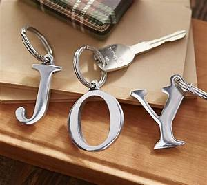 silver letter keychain pottery barn With letter keychains silver