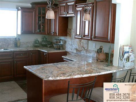 Cherry Cabinets with Granite CountertopZeus   Remodeling