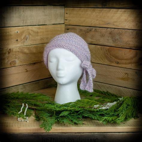 loom knit cloche hat pattern side tie bow vintage