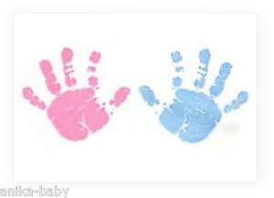 baby blau farbe neu baby junge blau m 228 dchen rosa handabdruck fu 223 abdruck farbe wischen set set a4 ebay