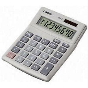 Casio Desk Calculator by Casio Mx8v Desk Calculator 8 Digit Angled Display Solar
