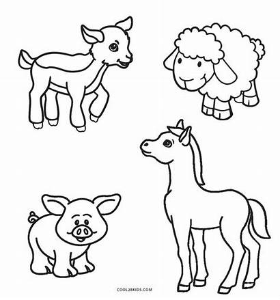 Coloring Farm Pages Animal Animals Printable Cool2bkids