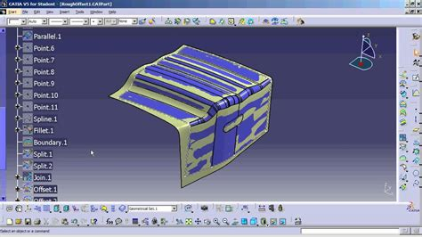 CATIA V5 - How to Simplify surfaces, then flatten them ...