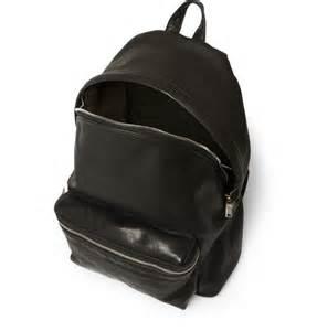 Saint Laurent Black Leather Backpack