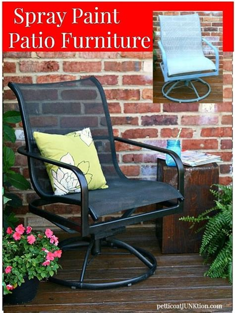 the easy way to paint metal patio furniture petticoat