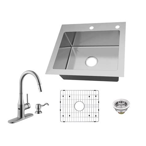Glacier Bay All in One Dual Mount 18 Gauge Stainless Steel