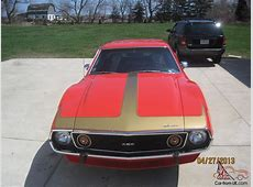 AMC 1973 AMX 401 4 SPEED GO PAC PIERRE CARDIN COWL
