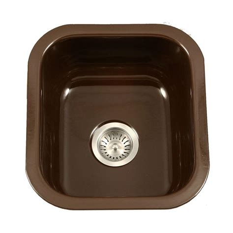 single bowl porcelain kitchen sink houzer porcela series undermount porcelain enamel steel 16 7955