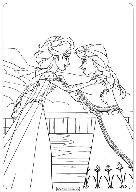 printable anna  elsa coloring pages