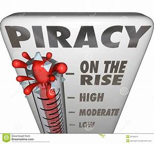 Piracy On The Rise Thermometer Measuring Illegal File ...