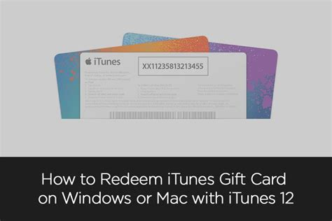 how to redeem itunes gift card on windows or mac with