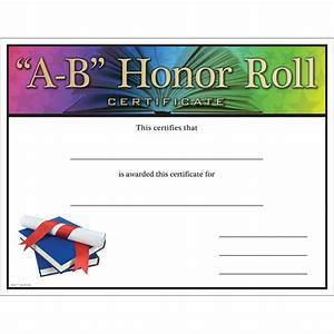 8 best images of a b honor roll certificate a b honor With a b honor roll certificate template