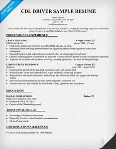 cdl driver resume sample resumecompanioncom trucking With truck driver resume templates free