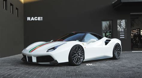 Strangely enough, this tuned ferrari 488 spider wasn't presented by the novitec group , nor by akrapovic for that matter, but by an israeli tuning company called component. White Ferrari 488 GTB - ADV10.0 M.V2 SL - Gunmetal