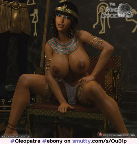 Cleopatra Ebony Egyptian Egyptiangoddess 3d Topless