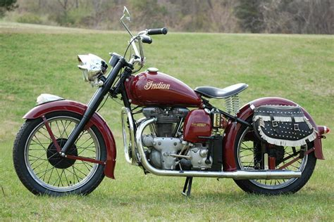 Indian Scout Hd Photo by 1949 Indian Scout Model 249 Vintage Motorcycle
