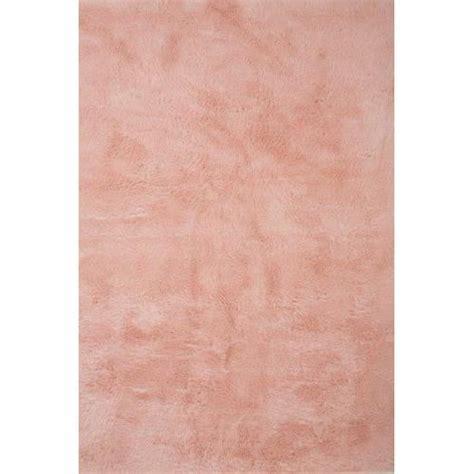 tapis contemporain pilepoil rose poudre    cm