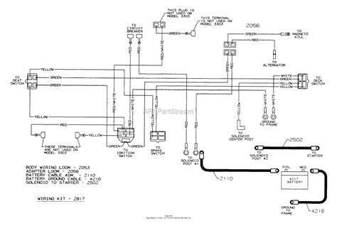 dixon ztr 3303 2000 parts diagram for wiring