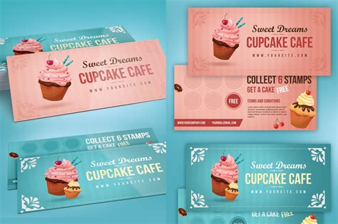 loyalty card card templates creative market