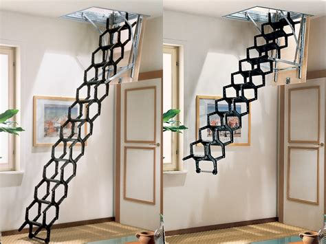 retractable staircase retractable stair adj by rintal
