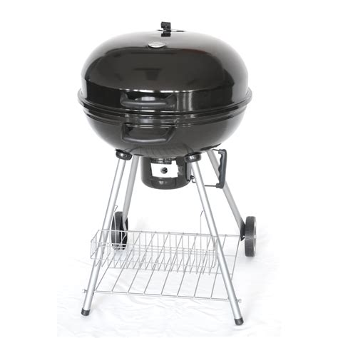 the original outdoor cooker 22 5 quot deluxe kettle charcoal grill reviews wayfair