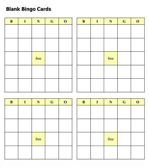 bingo card template word document blank bingo template 9 free documents in pdf