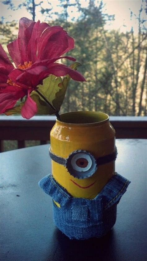 minion flower pot     recycled materials fb