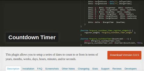 countdown timer plugin