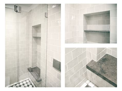 subway tile shower bench complete tile