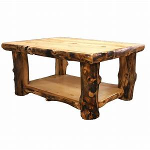 Log Coffee Table - Country Western Rustic Cabin Wood Table
