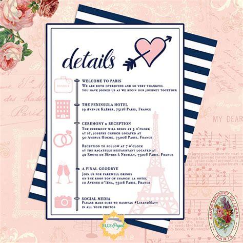 destination wedding itinerary day  itinerary paris