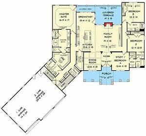 Craftsman House Plan With 3 Car Angled Garage