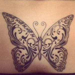 Monarch Butterfly Black And White Tattoo