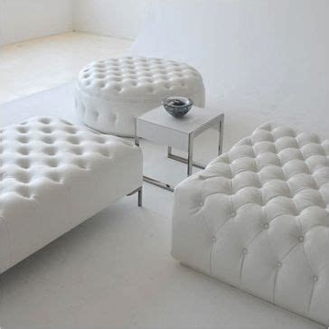 48 Inch Square Ottoman by White Leather Tufted Ottoman Collection Dimensions Square