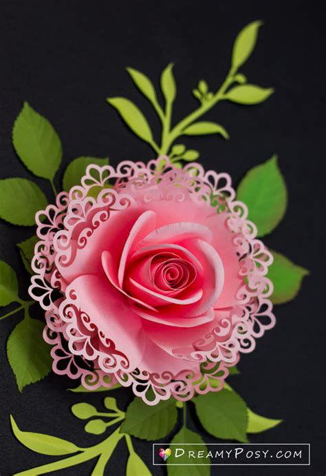 lace rose flower dreamyposy templates