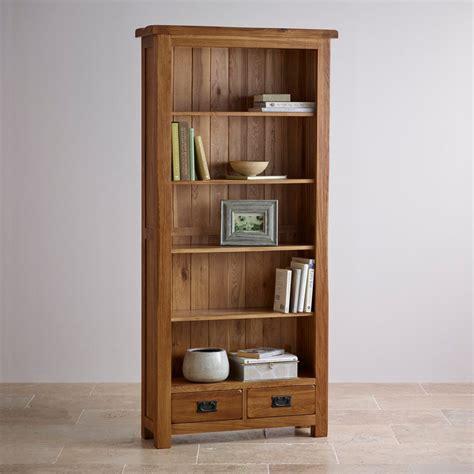 Solid Oak Bookcase by Original Rustic Bookcase In Solid Oak Oak Furniture
