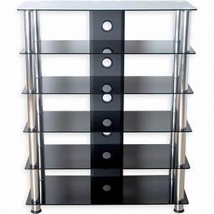 Meuble Hifi But : meuble hifi design en verre noir 113 cm ~ Teatrodelosmanantiales.com Idées de Décoration