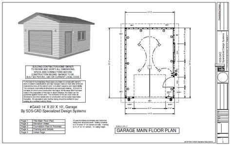 stunning x garage plans photos the g443 14 x 20 x 10 garage plan free house plan