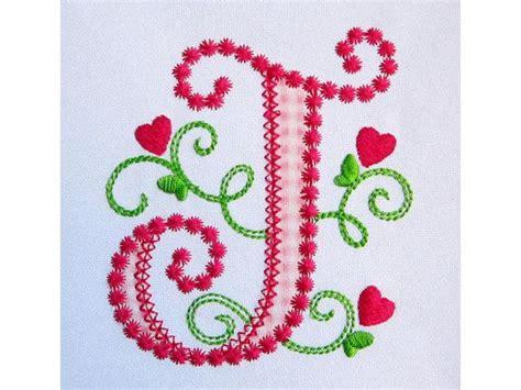 letter  applique machine embroidery design monogram initials valentines day applique cute lil