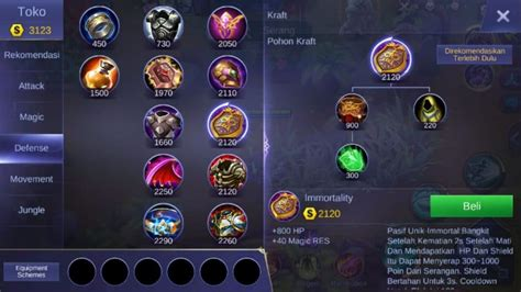 mobile legends items tips menggunakan bruno di mobile legends build item