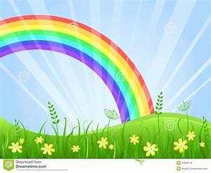 Wiese Mit Blumen : wiese mit blumen und regenbogen lizenzfreie stockfotos ~ Watch28wear.com Haus und Dekorationen