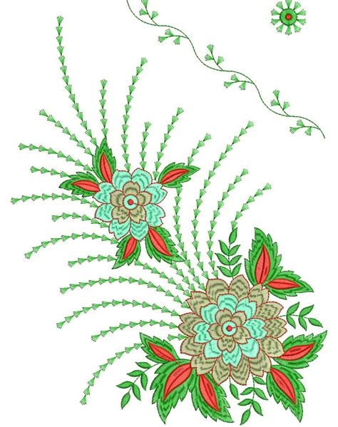 embroidery designs for embroidery designs 35 dress daman embroidery design