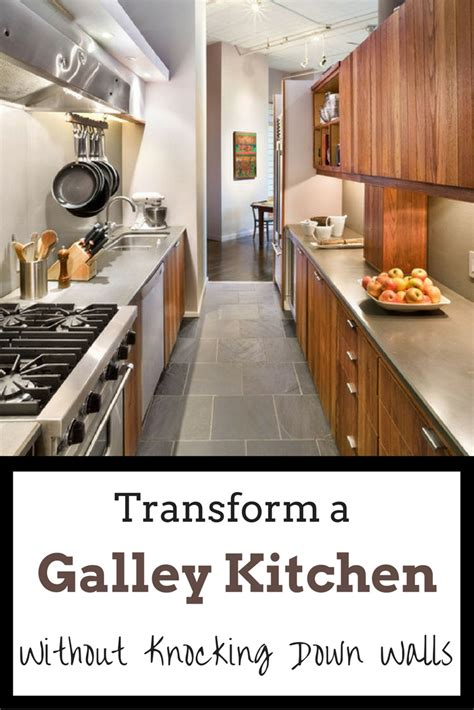 how to make a galley kitchen look larger galley kitchen makeover ideas to create more space 9786