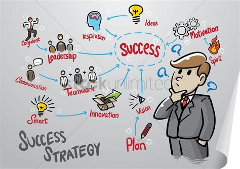 business man   success mind map vector image