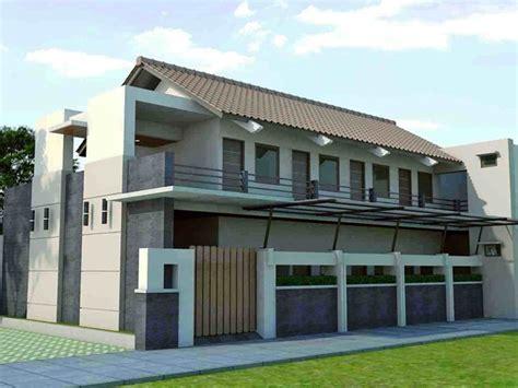 contoh gambar desain rumah kost minimalis   lantai