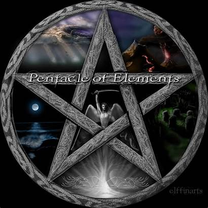 Pentacle Wiccan Elements Wicca Pentagram Pagan Witchcraft