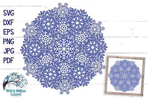 Get commercial use mandala graphics and vector designs. Snowflake Mandala SVG   Winter Mandala SVG Cut File ...