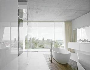White modern bathroom design | Interior Design Ideas.